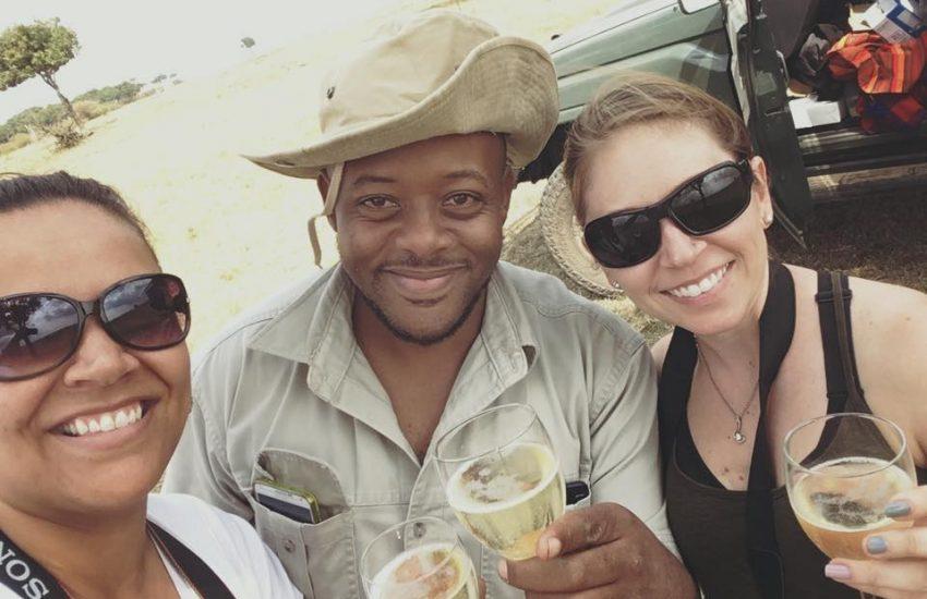 Sundowner on an African Safari