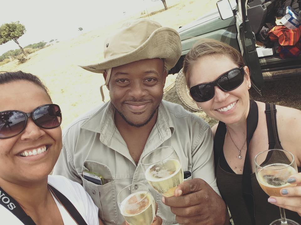 Sundowner while on an African Safari