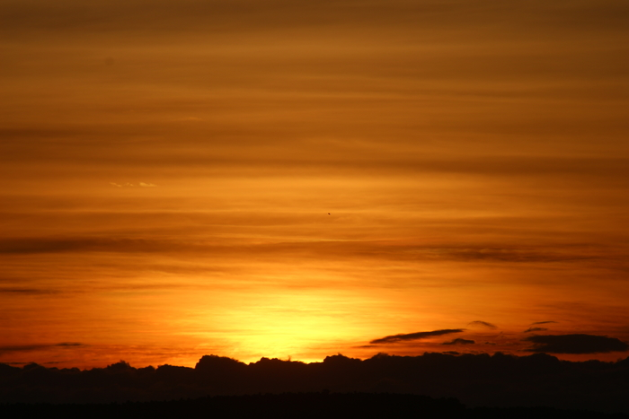 romantic sunset in kenya