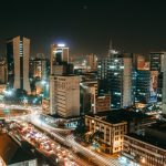 Nairobi city at night