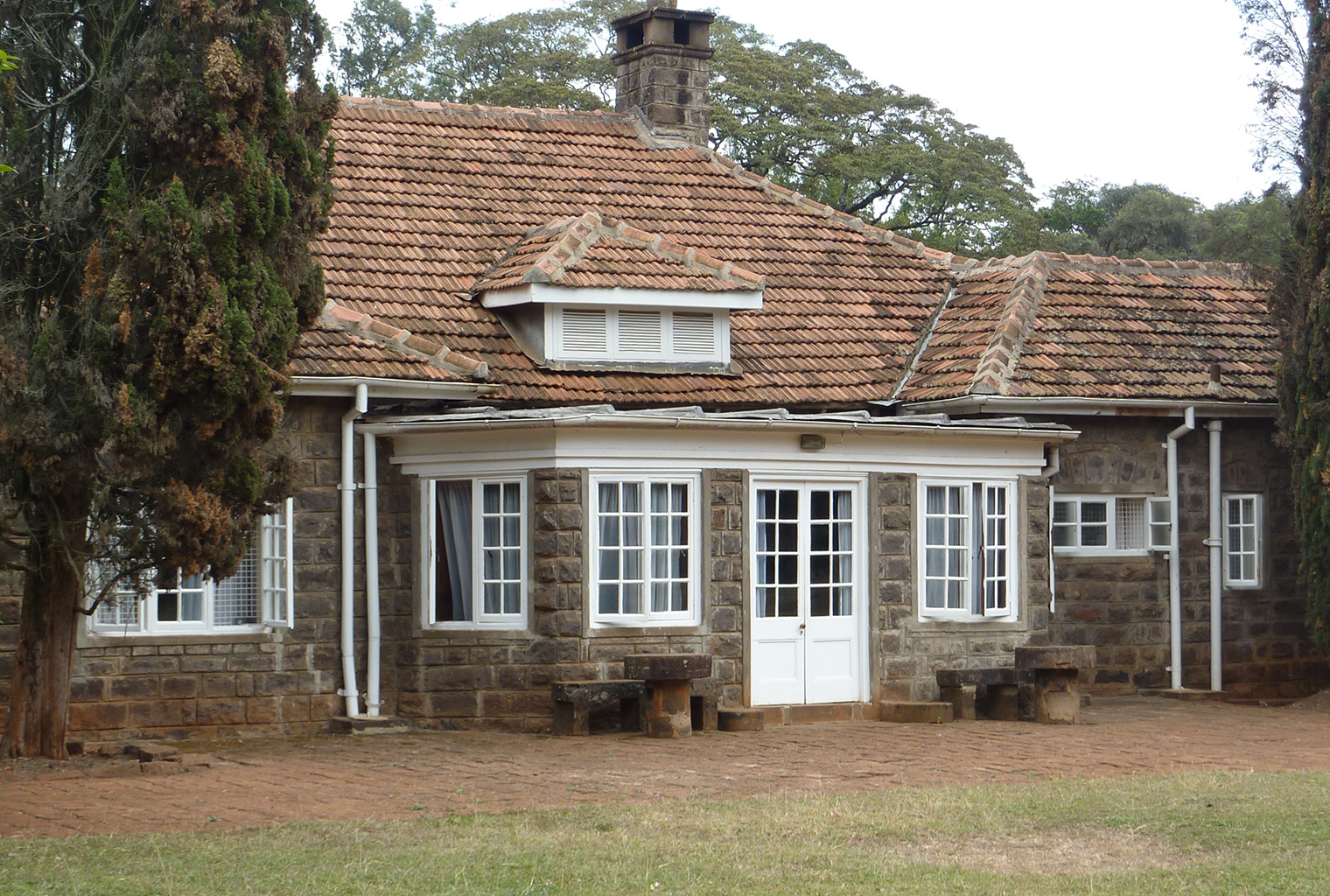 one side of the Karen Blixen house