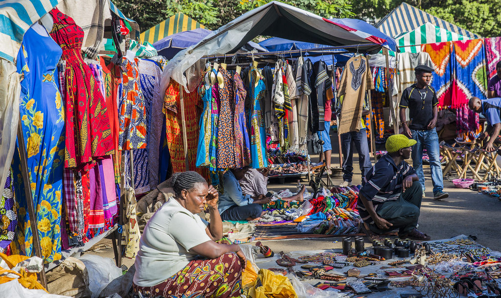 Maasai weekend market in Nairobi
