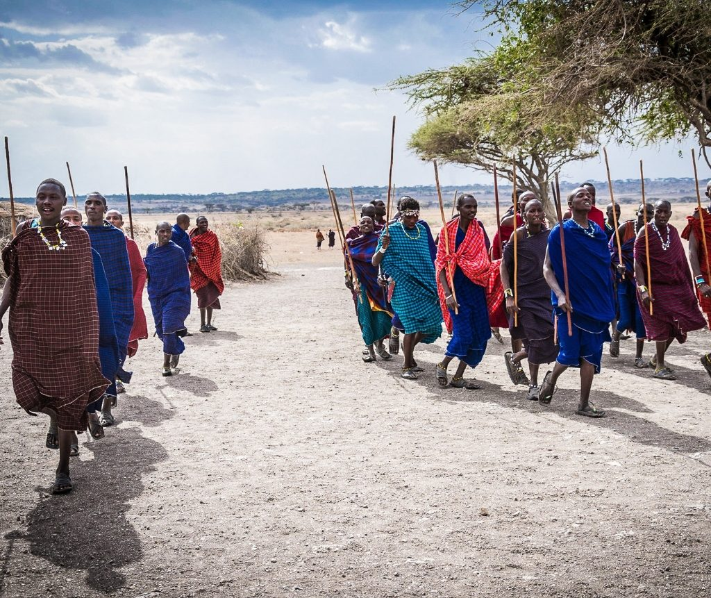 Maasai Men Walking