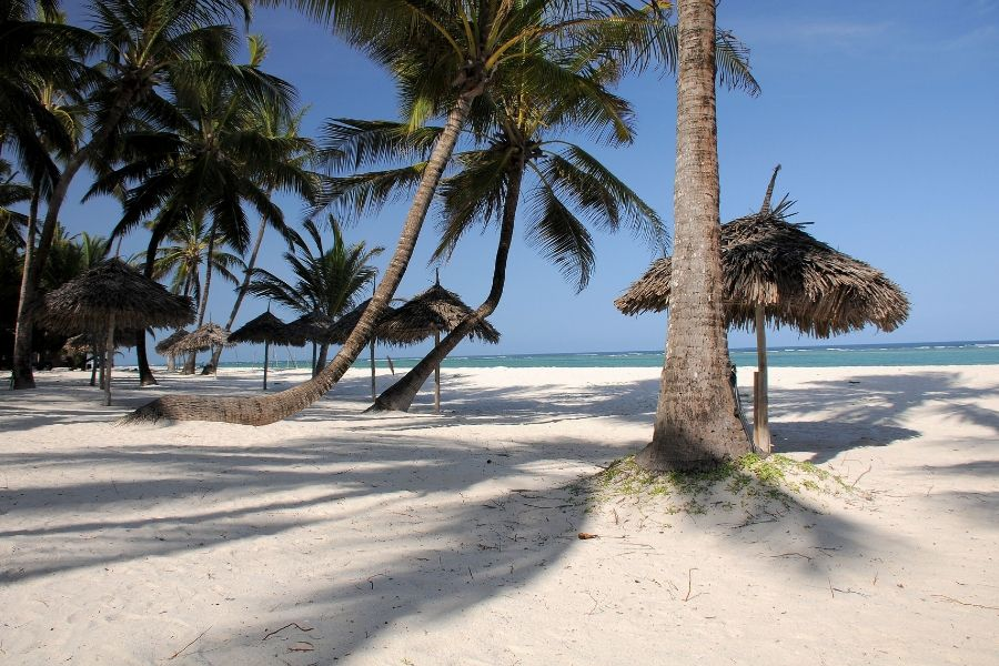 A beautiful beach in Kenya