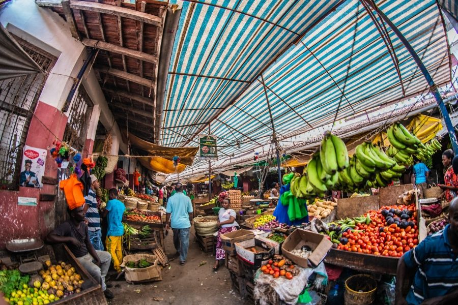 Lamu Market in Kenya