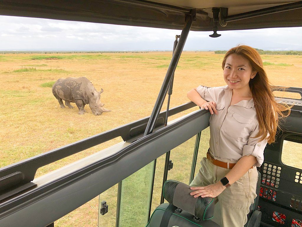 Najin one of two remaining northern white rhinos in Olpejeta Conservancy